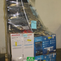 Pallet - 21 Pcs - Heaters, Fans, Air Conditioners, Bar Refrigerators & Water Coolers - Customer Returns - Lasko, Honeywell