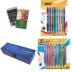 Pallet - 323 Pcs - Office Supplies, Calendars - Customer Returns - BIC, Derwent, Aisa, Continental
