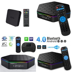 7 Pcs – Streaming Media Players – Refurbished (GRADE A, GRADE B) – MXQ, EASYTONE, Weily, Superpower, Inc.