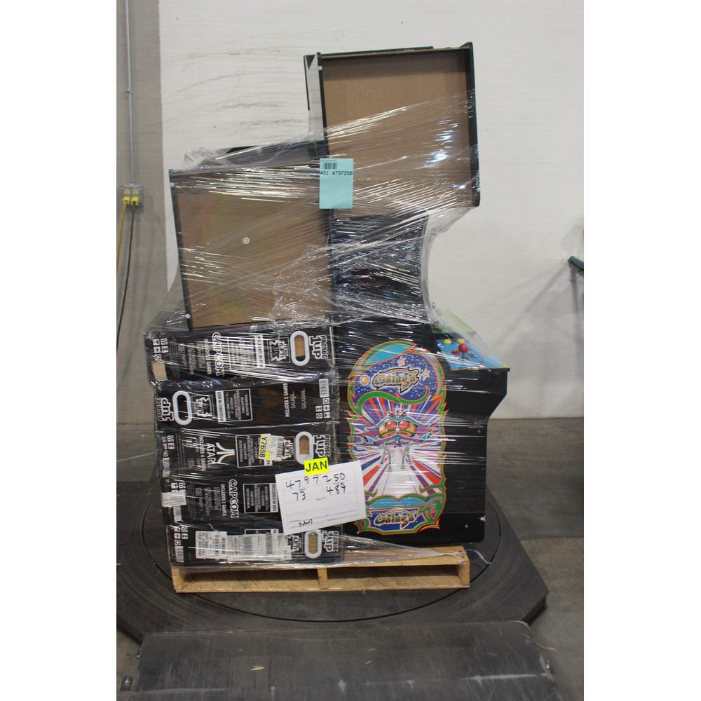 Pallet - 9 Pcs - Video Games - Other - Customer Returns - ARCADE1up