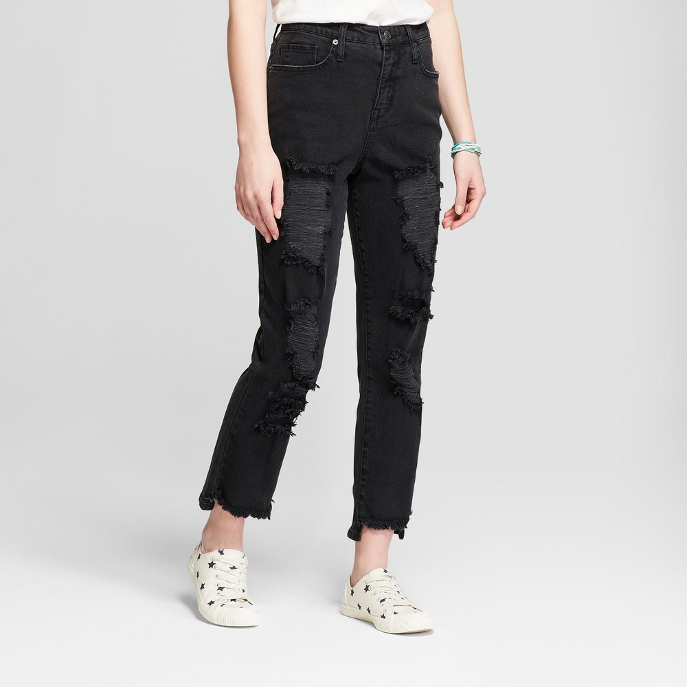 Mid Rise NEW Mossimo Womens Black Skinny Jeans Size 12 Curvy Fit