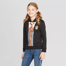 25 Pcs - Harry Potter Girls Long Sleeve Sweatshirt, Black - New - Retail Ready