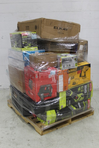 Pallet – 24 Pcs – Power Tools, Trimmers & Edgers, Lighting & Light Fixtures – Damaged / Missing Parts – RYOBI, DEWALT, Milwaukee, Pelonis