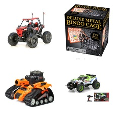 Pallet – 38 Pcs – Vehicles, Trains & RC, Boardgames, Puzzles & Building Blocks – Customer Returns – New Bright, Cardinal, Zuru, My Life As