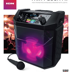ION Audio IPA101A Party Boom FX High-Power Bluetooth-enabled Rechargeable Speaker with Lights - Refurbished
