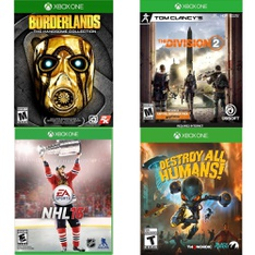 18 Pcs – Microsoft Video Games – Open Box Like New, Used, New – Borderlands: The Handsome Collection (Xbox One), Tom Clancy's The Division 2 – Xbox One, NHL 16 – Xbox One, Luxor The King's Collection PC