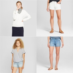 168 Pcs - Womens, Jeans, Pants, Legging & Shorts, T-Shirts, Polos, Sweaters & Cardigans - New - Retail Ready - Universal Thread, A New Day, Mad Love, Medela