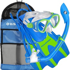 11 Pcs - U.S. Divers 241695 Youth Buzz Junior Snorkeling Set - New - Retail Ready
