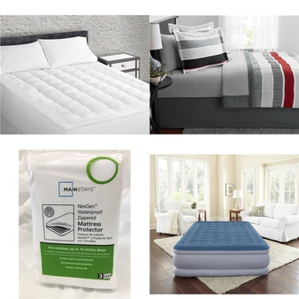 Pallet – 25 Pcs – Covers, Mattress Pads & Toppers – Customer Returns – Sertapedic, Mainstays, Mainstay's