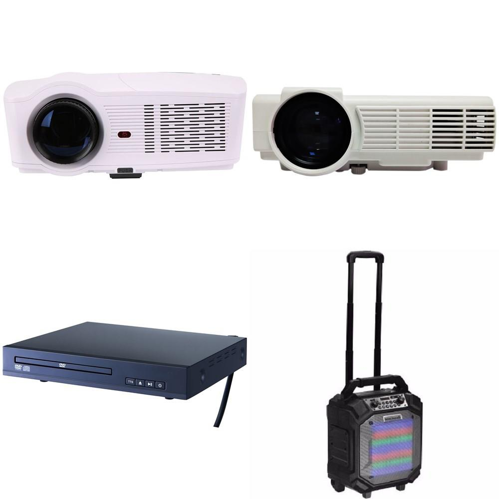 3 Pallets - 296 Pcs - Accessories, Projector, DVD & Blu-ray Players,  Speakers - Customer Returns - Scosche, RCA, Onn, GE