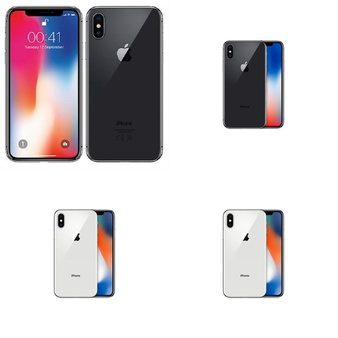 5 Pcs – Apple iPhone X – Refurbished (GRADE A – Unlocked) – Models: MQA52LL/A, MQA62LL/A, MQAN2LL/A, MQA82LL/A