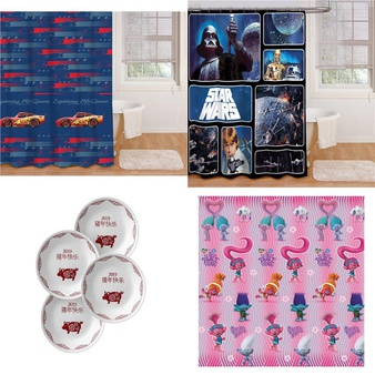 Pallet – 208 Pcs – Kitchen & Dining, Bath, Curtains & Window Coverings, Blankets, Throws & Quilts – Customer Returns – Mainstays, HomeTrends, Mainstay's, Disney Cars
