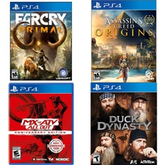 150 Pcs - Sony Video Games - New - Mx Vs ATV All Out Anniversary Edition (PlayStation 4), Far Cry: Primal (PlayStation 4), Madden NFL 19 (PS4), Call of Duty-Infinite Warfare(PS4)