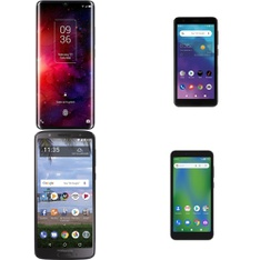 CLEARANCE! 6 Pcs – Cellular Phones – BRAND NEW – Not Activated – BLU, Motorola, TCL, ZTE