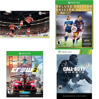 22 Pcs – Microsoft Video Games – New, Used, Like New – NHL 17 :Xbox One, The Crew 2 (XB1), FIFA 16 – Deluxe Edition – Xbox One, Far Cry 5 Standard Edition Xbox One