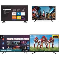50 Pcs – LED/LCD TVs – Refurbished (GRADE A, GRADE B) – RCA, HISENSE, TCL, SCEPTRE