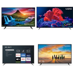 50 Pcs – LED/LCD TVs – Refurbished (GRADE C) – VIZIO, Samsung, onn., Sony