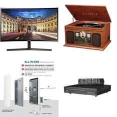 Pallet - 45 Pcs - Monitors, DVD & Blu-ray Players - Customer Returns - onn., Antop, Victrola
