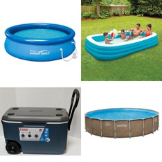 5 Pallets - 69 Pcs - Pools & Water Fun, Camping & Hiking, Fishing & Wildlife, Accessories - Customer Returns - Coleman, PolyGroup, Summer Waves, Newell Brands