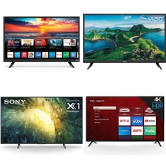 36 Pcs – LED/LCD TVs – Refurbished (BRAND NEW, GRADE A, GRADE B) – VIZIO, Sony, LG, TCL