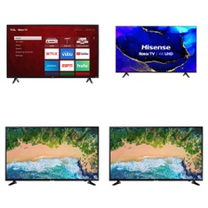 13 Pcs – LED/LCD TVs – Refurbished (GRADE A) – TCL, Samsung, SHARP, HISENSE