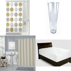 Pallet - 130 Pcs - Bath, Kitchen & Dining, Decor, Curtains & Window Coverings - Customer Returns - Mainstays, HomeTrends, Mainstay's, Flared