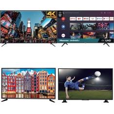 50 Pcs – LED/LCD TVs – Refurbished (GRADE A, GRADE B) – RCA, HISENSE, PROSCAN, SCEPTRE