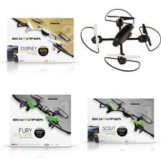 Pallet - 51 Pcs - Drones & Quadcopters - Tested NOT WORKING - Sky Viper, SHARPER IMAGE, Propel, Skyrocket