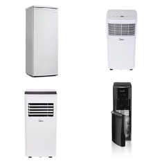 Pallet – 7 Pcs – Air Conditioners, Bar Refrigerators & Water Coolers – Customer Returns – Midea, Primo, Danby, Hamilton Beach