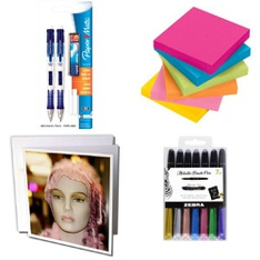 121 Pcs - Office Supplies - New, Like New, New Damaged Box, Open Box Like New, Used - Retail Ready - Paper Mate, 3dRose, 3M Office Products, Mead