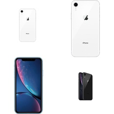 25 Pcs - Apple iPhone XR 64GB - Unlocked - Certified Refurbished (GRADE A)