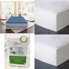 3 Pallets – 142 Pcs – Covers, Mattress Pads & Toppers, Comforters & Duvets, Curtains & Window Coverings, Bedding Sets – Customer Returns – Mainstay's, Aller-Ease, Better Homes & Gardens, Beautyrest