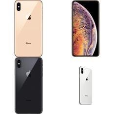 22 Pcs - Apple iPhone Xs Max - Refurbished (GRADE A - Unlocked) - Models: MT5C2LL/A, MT5D2LL/A, MT5F2LL/A, MT5E2LL/A