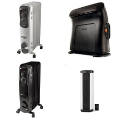 Pallet - 17 Pcs - Heaters - Customer Returns - Pelonis, Honeywell