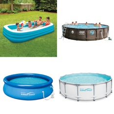 26 Pallets - 341 Pcs - Pools & Water Fun, Not Powered, Vehicles, Trains & RC, Outdoor Sports - Customer Returns - Play Day, Summer Waves, PolyGroup, SwimSchool