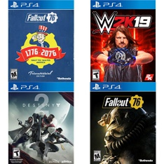 150 Pcs - Sony Video Games - New - Fallout 76 Tricentennial Edition (PS4), Destiny 2 Standard Edition (PS4), WWE 2K19 (PlayStation 4), Fallout 76(PS4)