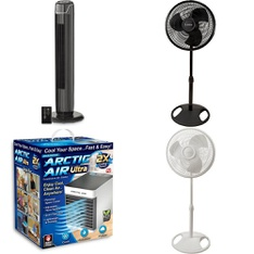 6 Pallets - 340 Pcs - Fans, Humidifiers / De-Humidifiers, Home Security & Safety, Hardware - Customer Returns - Lasko, Mainstay's, As Seen On TV, Brink's