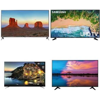 4 Pcs – LED/LCD TVs (46″ – 55″) – Refurbished (GRADE A, GRADE B, No Stand) – LG, Samsung, SHARP, TCL