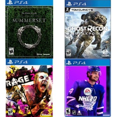 250 Pcs - Sony Video Games - Open Box Like New, New, Like New, Used - The Elder Scrolls Online: Summerset (PS4), Rage 2(PS4), Tom Clancy's Ghost Recon Breakpoint PlayStation 4, NHL 20 PlayStation 4