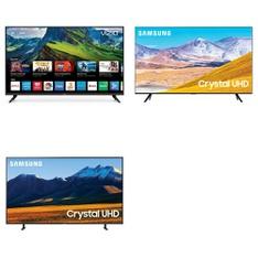 60 Pcs – LED/LCD TVs – Refurbished (GRADE A, GRADE B) – VIZIO, Samsung