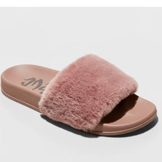 100 Pcs - Mad Love Women's Phoebe Slide Sandal - Mauve 7 - New - Retail Ready