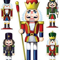32 Pcs - Beistle 22114 Nutcracker Clings, 12 by 17-Inch - New - Retail Ready