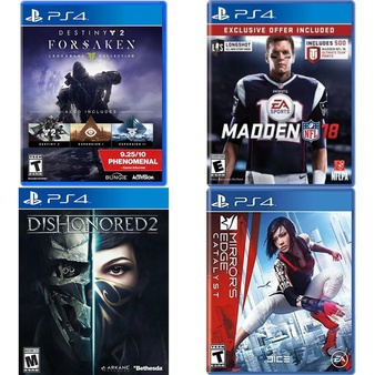 17 Pcs – Sony Video Games – Like New, Used, New – Destiny 2: Forsaken Legendary Collection (PS4), Dishonored 2 PlayStation 4, Mirrors Edge Catalyst (PS4), Madden NFL 18 Limited Edition (PS4)