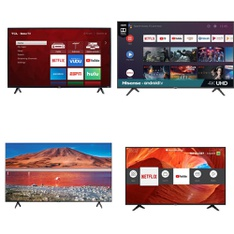 5 Pcs – LED/LCD TVs – Refurbished (GRADE A) – TCL, HISENSE, Samsung, SHARP