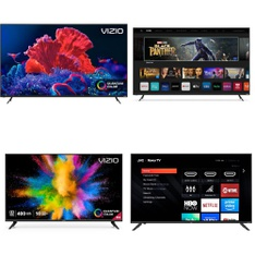18 Pcs – LED/LCD TVs – Refurbished (GRADE A, GRADE B) – VIZIO, JVC