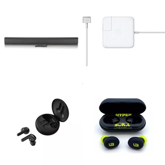 Pallet – 242 Pcs – In Ear Headphones, Speakers, Other, Power Adapters & Chargers – Customer Returns – LG, Onn, Apple, LINEARFLUX