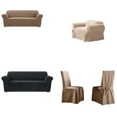 82 Pcs - Furniture Covers - New, Like New, Used, New Damaged Box - Retail Ready - Sure Fit, SureFit, Quickfit, Maytex