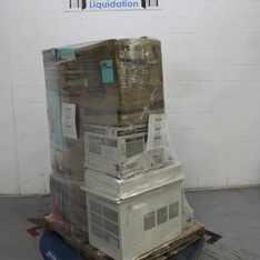 Pallet - 11 Pcs - Air Conditioners, Trimmers & Edgers, Storage & Organization - Tested NOT WORKING - GreenWorks, Keter, Primo, GE