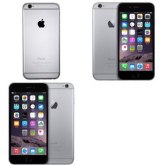 6 Pcs - Apple iPhone 6 - Refurbished (GRADE B - Unlocked) - Models: MG4W2LL/ARW, MG6G2LL/A, MG632LL/A