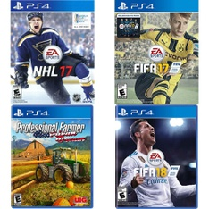 73 Pcs – Sony Video Games – Open Box Like New, New, Used, Like New – NHL 17(PS4), ADIB075CQN8F5, FIFA 17- PS4, FIFA 18 Standard Edition (PlayStation 4)